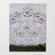 Stone Flowers Canvas Print