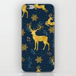 Golden Reindeer iPhone Skin