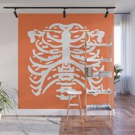 Human Rib Cage Pattern Orange 2 Wall Mural