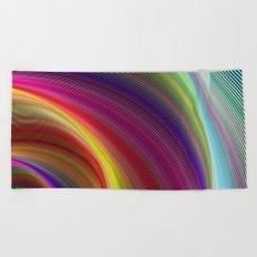 Vortex of colors Beach Towel