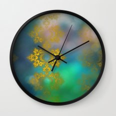 Gold lace decoration Wall Clock