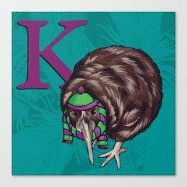Alphabetical Birds: K Canvas Print