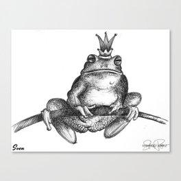 SVEN Frog Prince Print Canvas Print