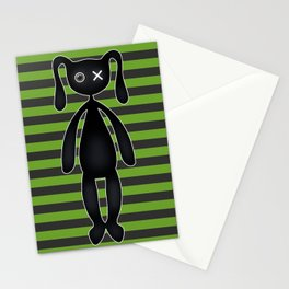 Goth Green and Black Bunny Stationery Cards