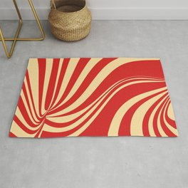 Movement in Red and Cream II Rug