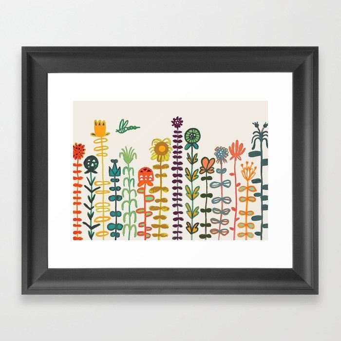 Happy garden Gerahmter Kunstdruck