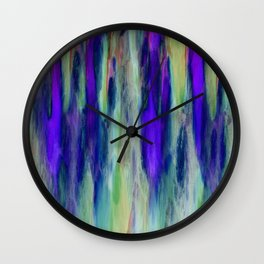 The Cavern in Shades of Purple and Green Wall Clock