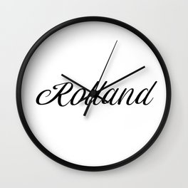 Name Rolland Wall Clock