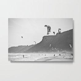 Windsurfers having fun on the Atlantic Ocean - Landscape Photography #Society6 Metal Print