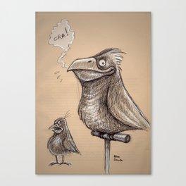 Bird sketch I Canvas Print