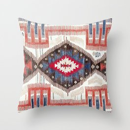 Afyon  Antique Phrygian Turkish Kilim Throw Pillow