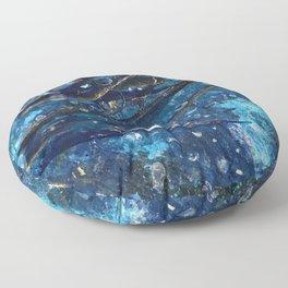 Porthole into the Ocean Environmental Sea Creatures Floor Pillow