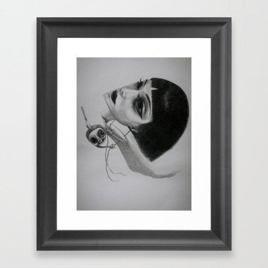 dark satanic meal Framed Art Print