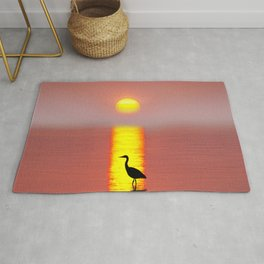 Heron - Egret - Animal - Nature - Flight - Wings - Feathers. Little sweet moments. Rug