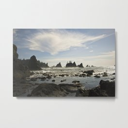 In with the Tide - Shi Shi Beach, WA Metal Print