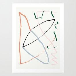sunday's line character Art Print
