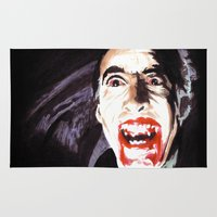 dracula Area & Throw Rugs featuring The Horror of Dracula by Zombie Rust