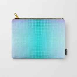 Purple Blue Black Ombre Hexagons Bi-lobe Contact binary Carry-All Pouch