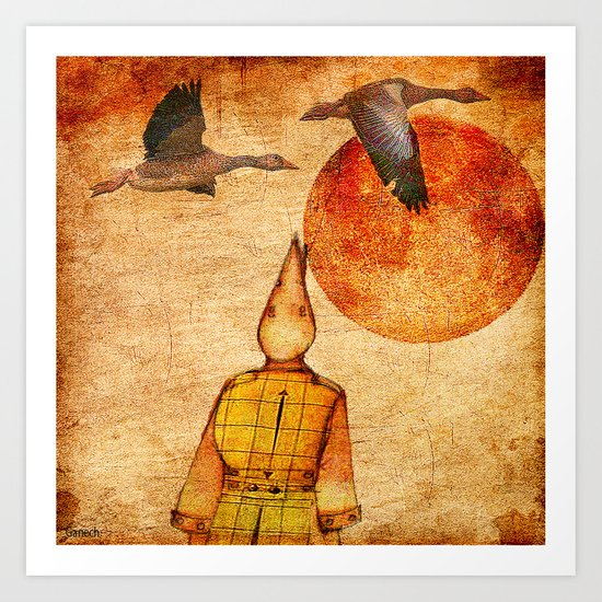 wild goose and Victor Art Print