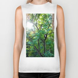 The enchanted woods | Bright tropical forest palm tree exotic green photography Biker Tank