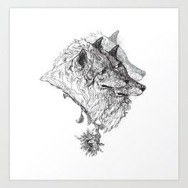 Cerberus Black and White Art Print