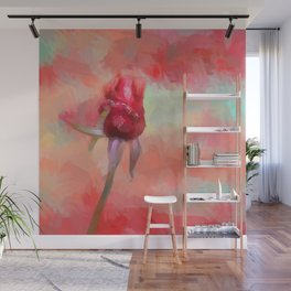 Red Rose In Spring Wall Mural