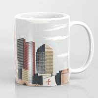 ohio Mugs featuring Columbus, Ohio by Sam Brewster