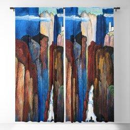 Alpine Verdon Canyon Trail mountain landscape painting by Marianne von Werefkin Blackout Curtain