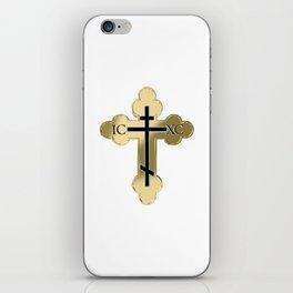 Christian orthodox cross iPhone Skin