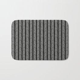 Mud cloth - Black and White Arrowheads Bath Mat