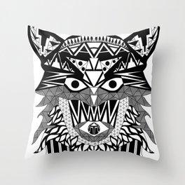 Tenacious Wolf Throw Pillow