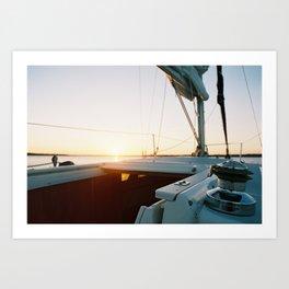 Sun Sail Art Print
