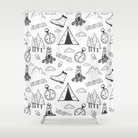 wanderlust Shower Curtains featuring Wanderlust by Tracie Andrews