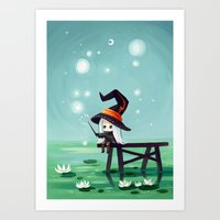 bubbles Art Prints featuring Bubbles by Freeminds