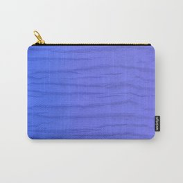 Exotic Wood In Blue Pattern Carry-All Pouch
