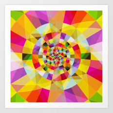 Colorful Abstract Swirly Tune Design (Fancy Fresh And Modern Hippy Style) Art Print