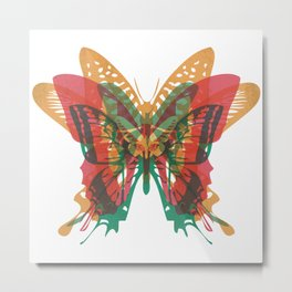 Butterfly Rorschach, Ya Know, For Kids! Metal Print