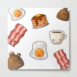 Bacon & Egg Breakfast Art Print Metal Print
