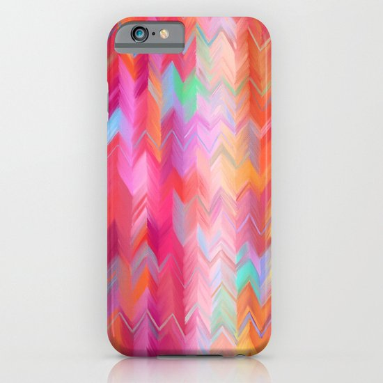 Colorful painted chevron pattern - pink, purple, yellow, orange iPhone & iPod Case