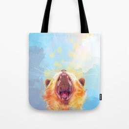Rise and Shine, Kitty - colorful cat illustration Tote Bag