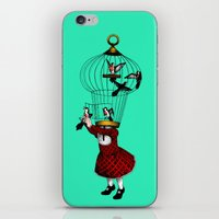 cage iPhone & iPod Skins featuring the cage by cappellosenzatesta