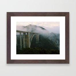 Bixby Bridge, Big Sur, California (landscape) Framed Art Print