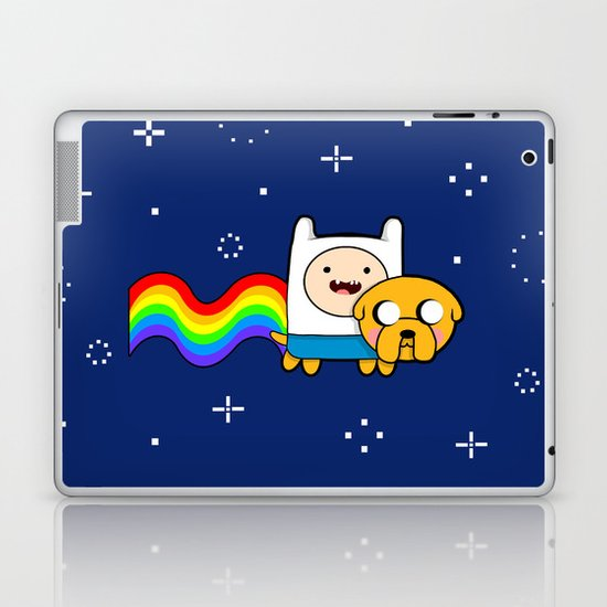 Nyan Time: Adventure Time plus Nyan Cat Laptop & iPad Skin