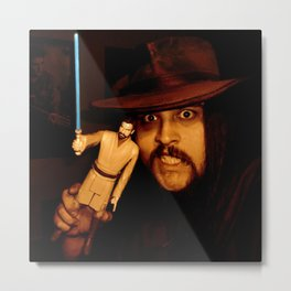Self Portrait     Silvio Ledbetter With Obi-Wan Kenobi Metal Print