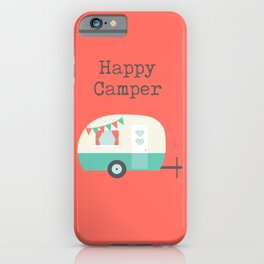 Happy Camper Coral iPhone Case