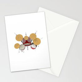 Red Drum Kit Stationery Cards