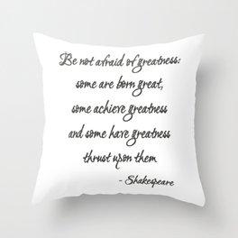 Born Great Throw Pillow