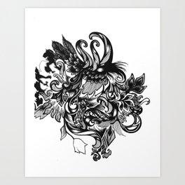 Swan Forest Art Print