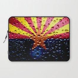 Flag of Arizona - Raindrops Laptop Sleeve
