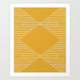 Geo / Yellow Art Print